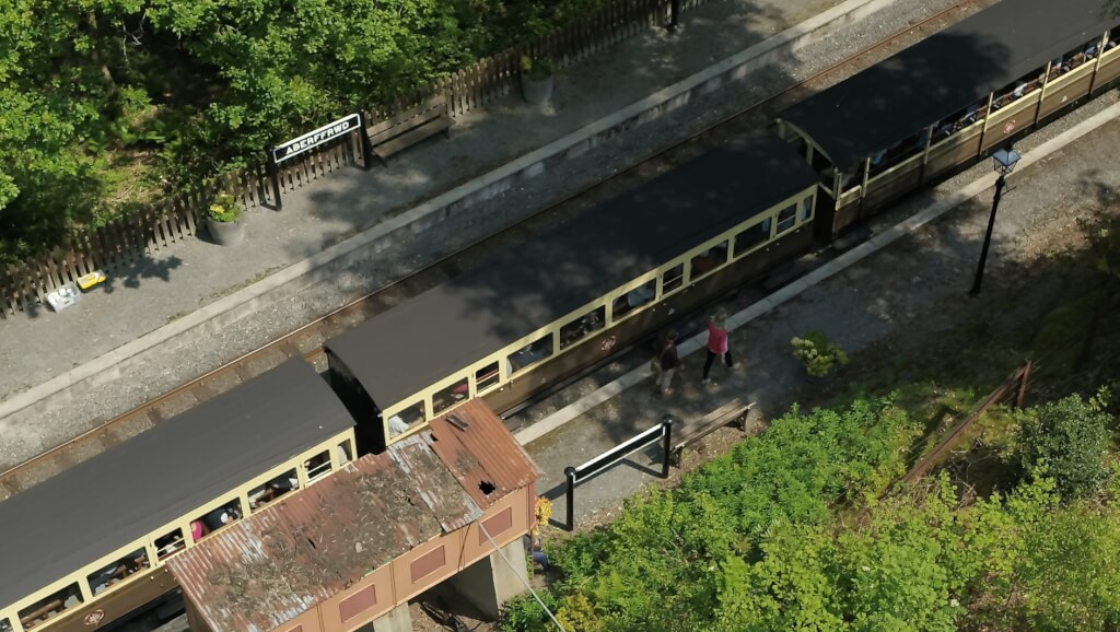 Can you fly a drone over the railway?